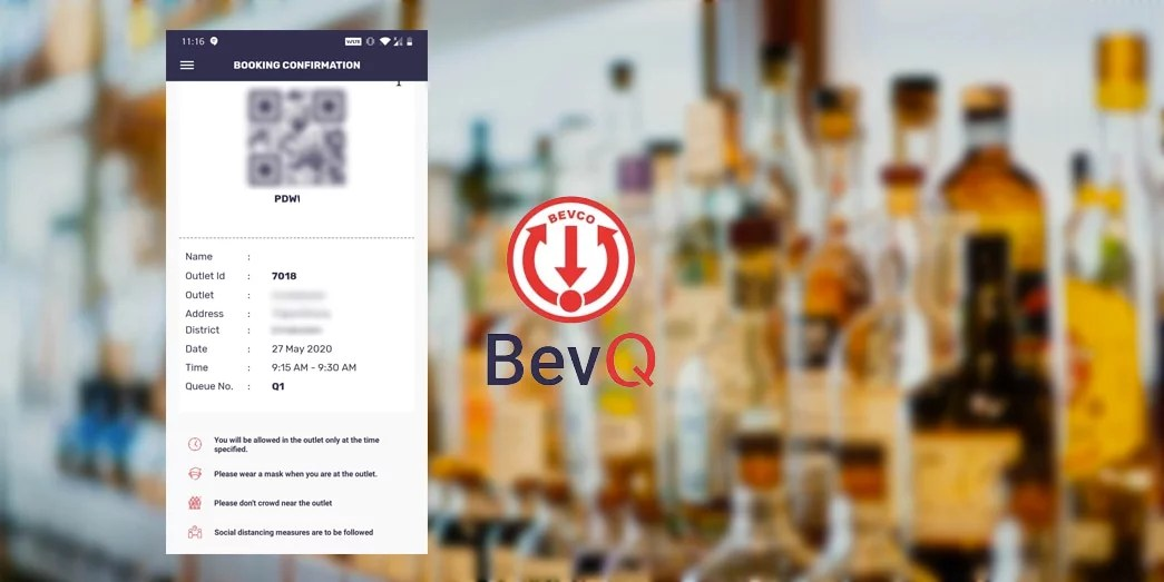 BevQ virtual queue app for Kerala BEVCO