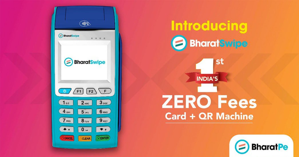 BharatPe PoS card machine for merchants