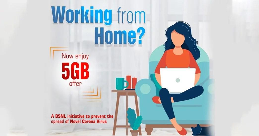 BSNL telecom Work from Home plans