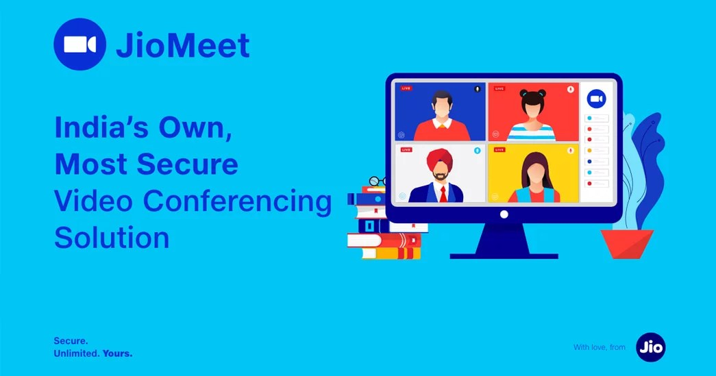 JioMeet India's own most secure video conferencing solution