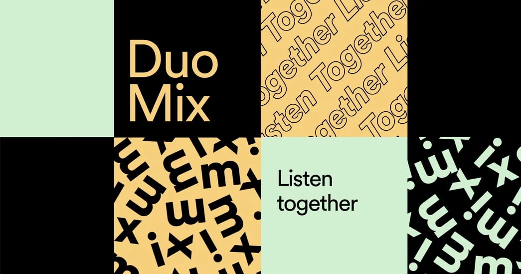 Spotify Premium Duo for coupled with exclusive Duo Mix playlist