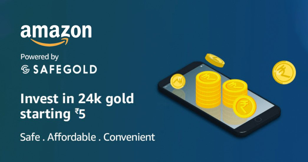 Amazon India Gold Vault for buying and selling digital gold