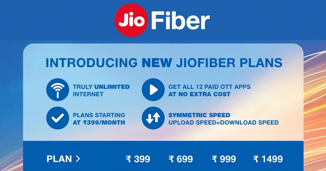 JioFiber truly unlimited broadband plans - new tariff plans