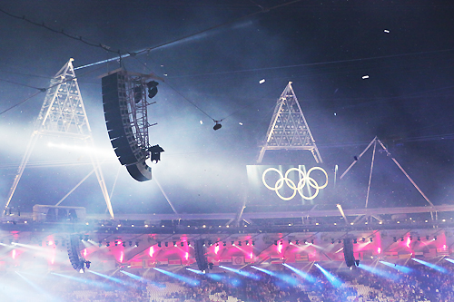 Sound at the London 2012 Olympic Games 2012LondonRingsWithArray