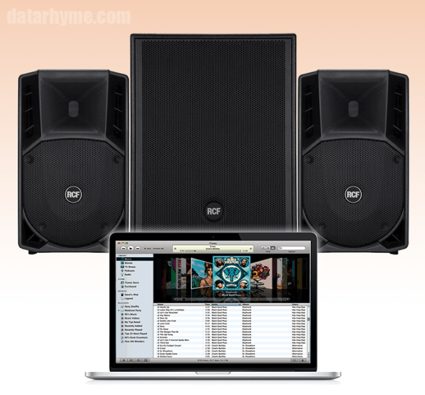 High Quality PA System Sound with MP3/AAC Music pa digital files