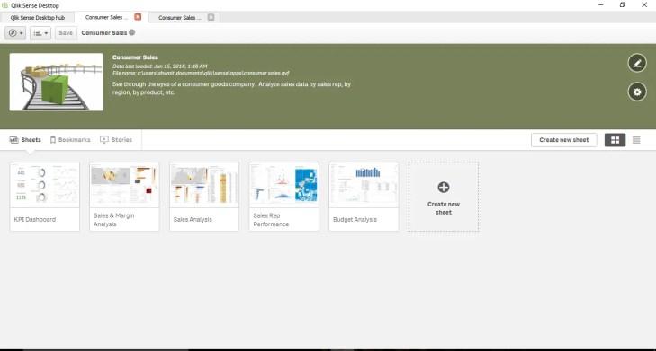 Qlik sense tutorial screen sheet