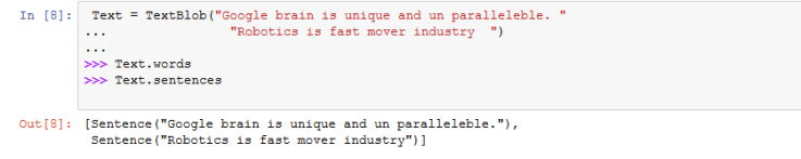 sentiment analysis python code output