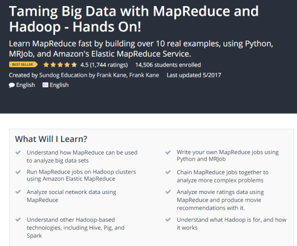 Taming Big Data with MapReduce and Hadoop Hands On Udemy.png