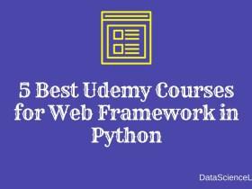 5 Best Udemy Courses for Web Framework in Python