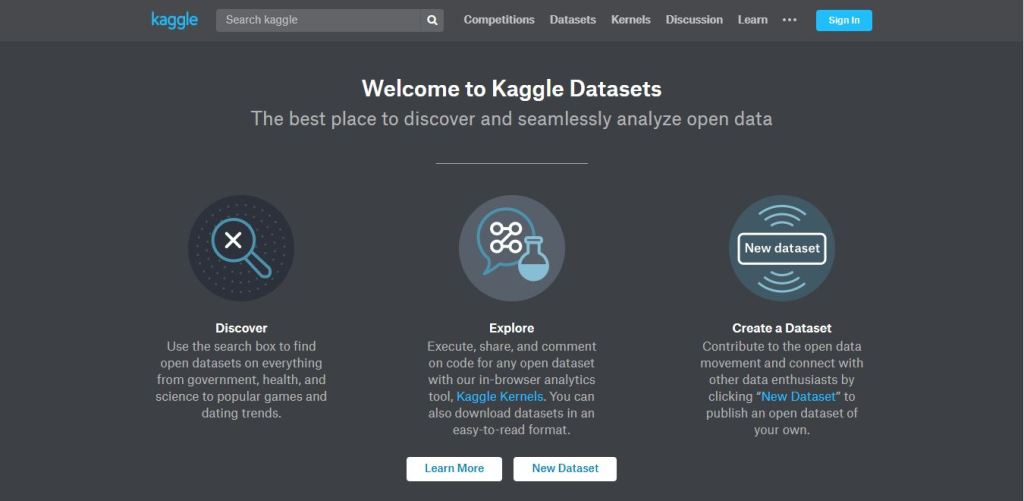 datasets for machine learning pojects kaggle