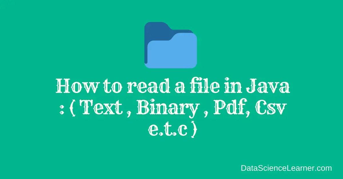Pdf File With Java