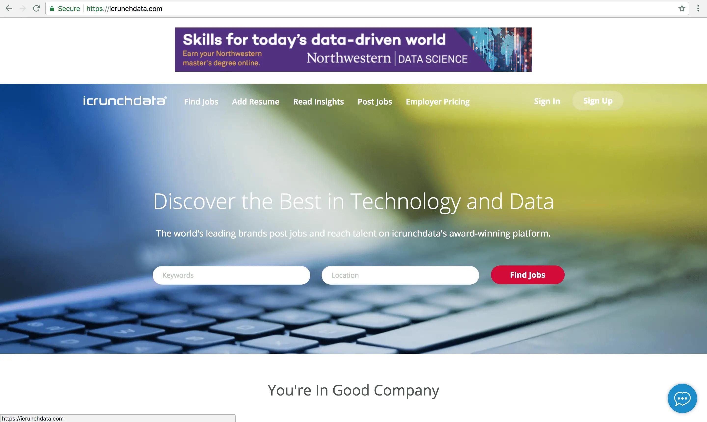 data science job portal idatacrunch