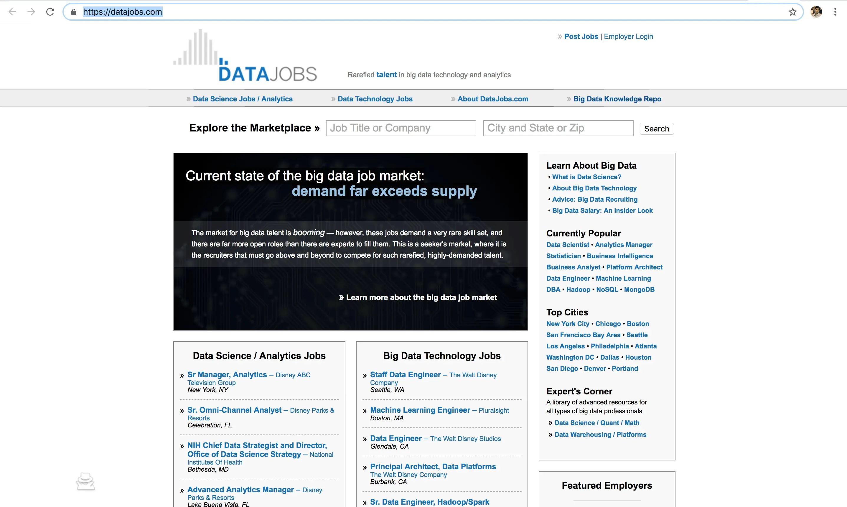 datajob -data science job portal