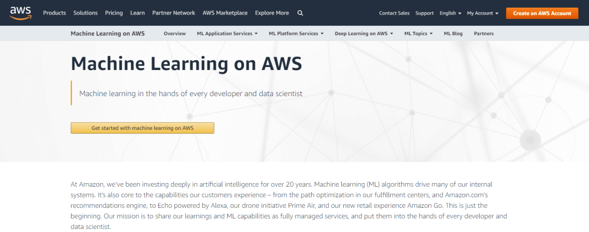 Machine Learning as a Service in Aws