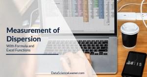 Measurement of Dispersion ac