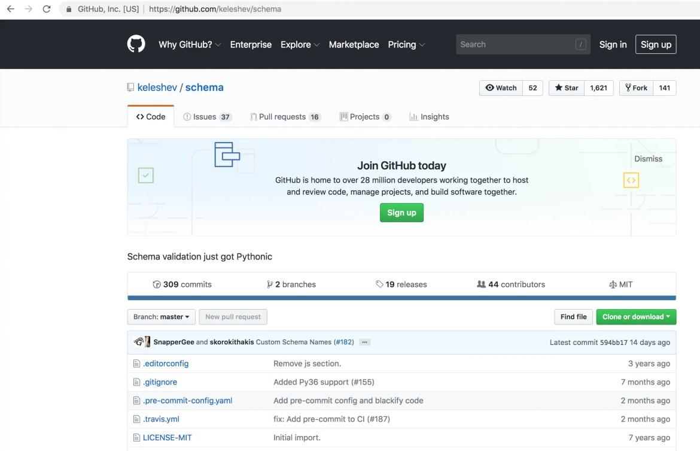 python data validation library -schema