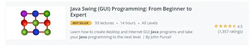 Java Swing (GUI) Programming From Beginner to Expert