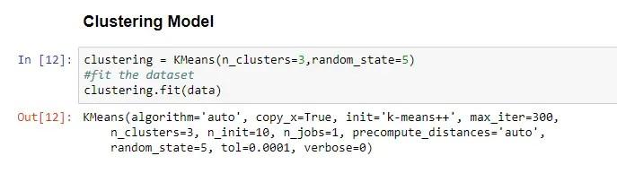 k mean clustering model