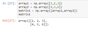 matrix using arrays