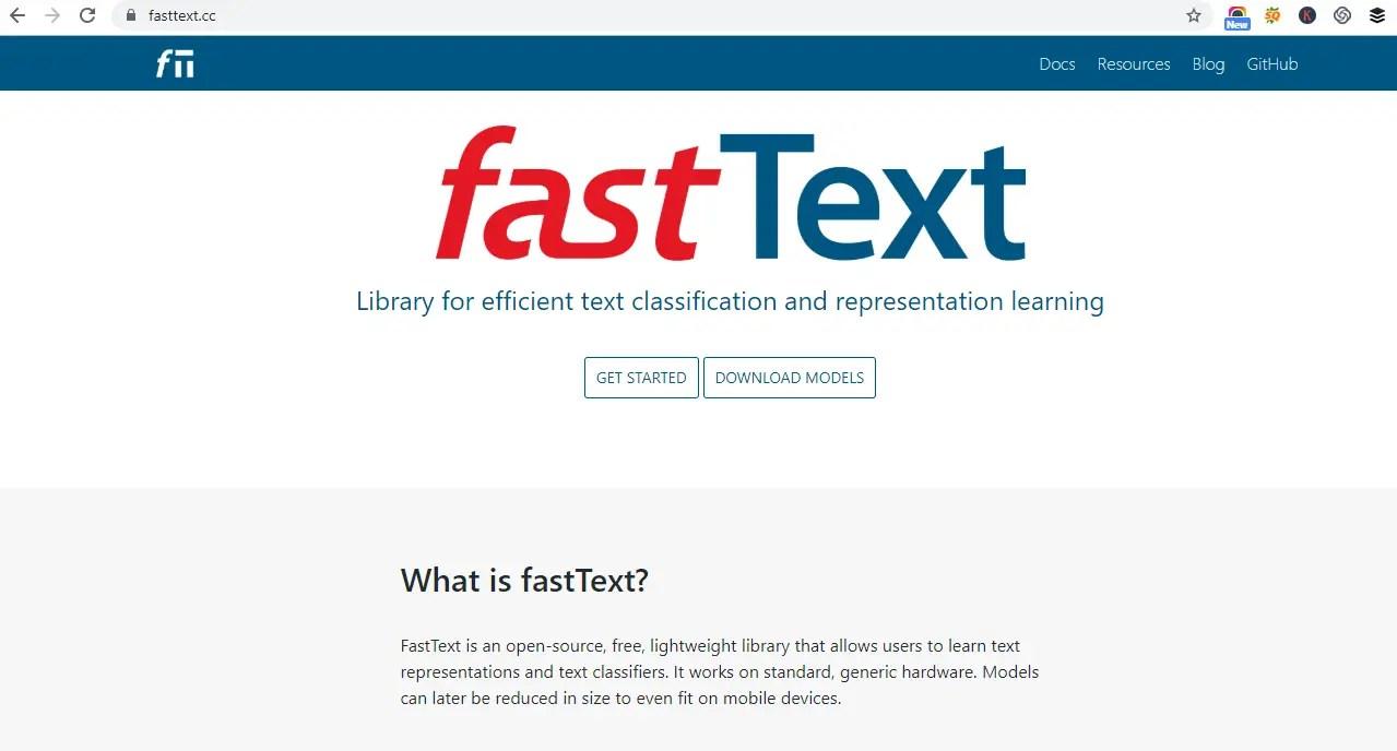 FastText Word embedding