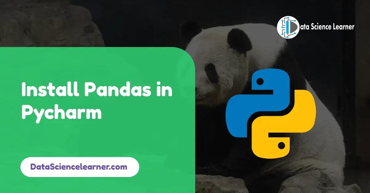 Install Pandas in Pycharm
