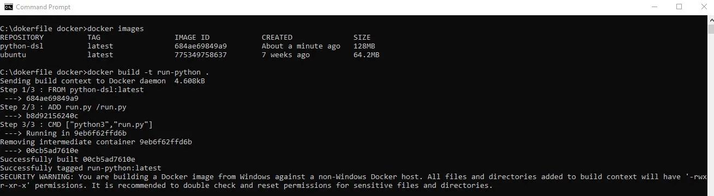 build docker file for running a python file.