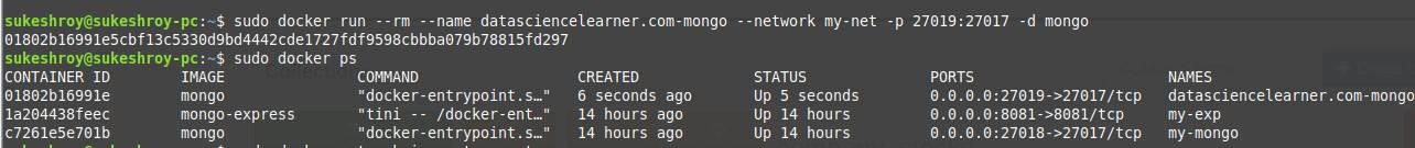 running a mongodb server in background