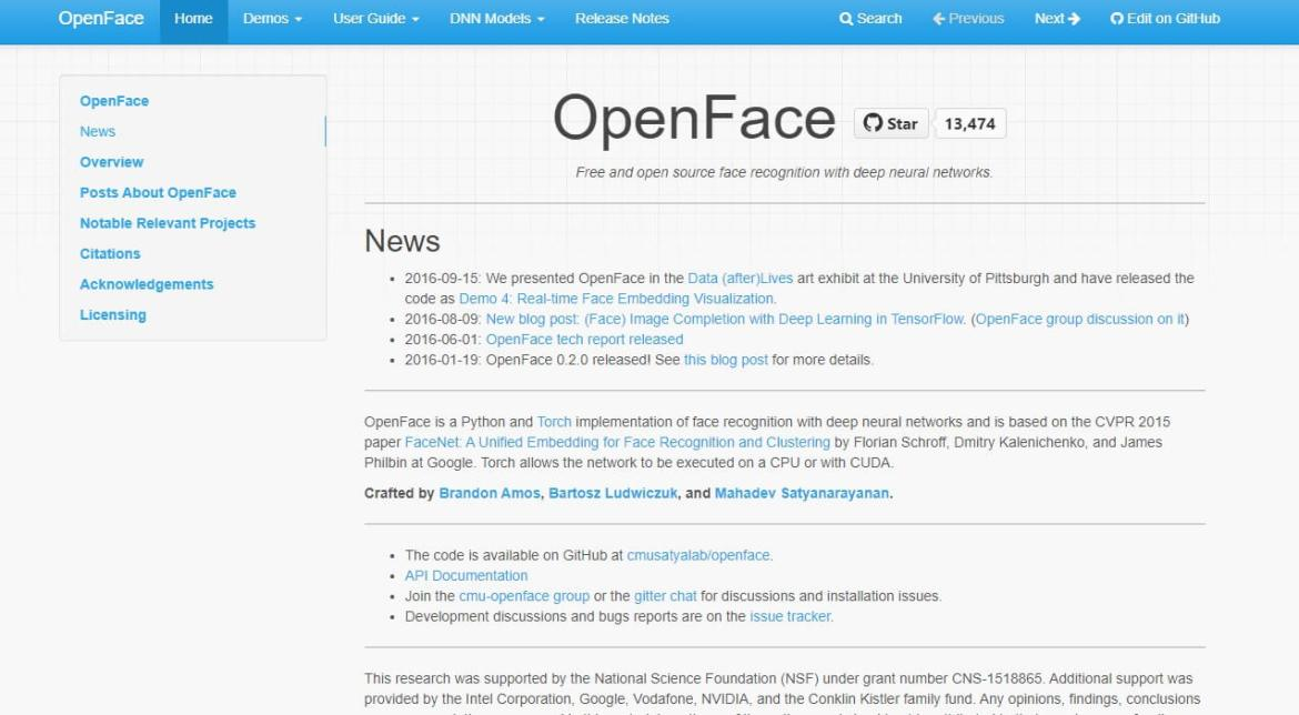 Open Face Offical Website