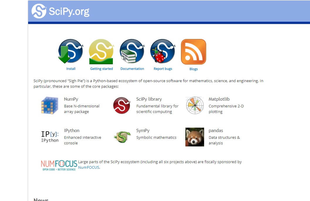 scipy python image library