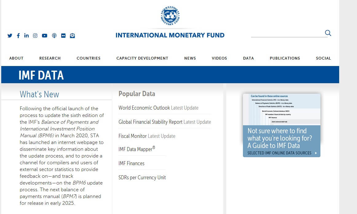 International monetary fund official website