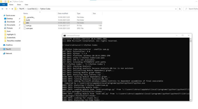 Python Script Dist Directory