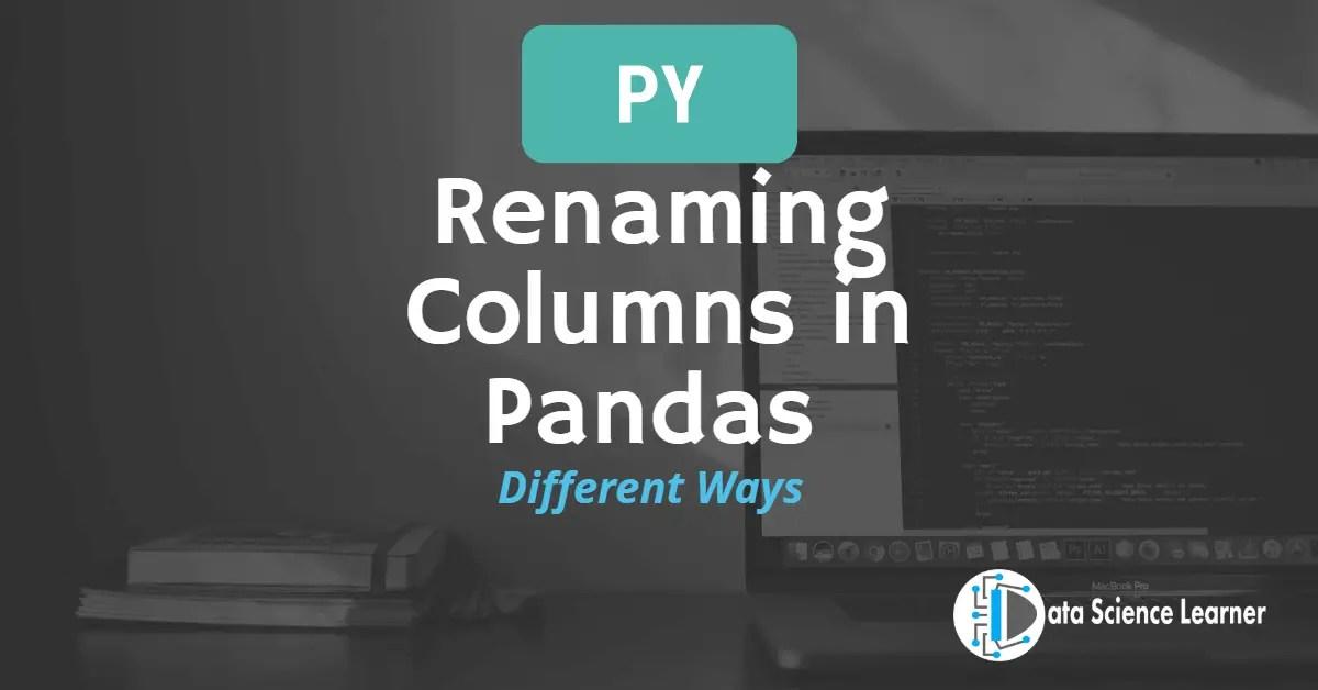 Rename Column in Pandas featured image