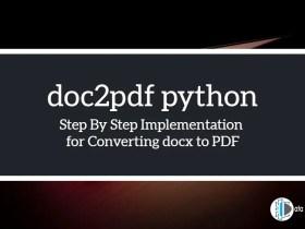 doc2pdf python Converting docx to PDF