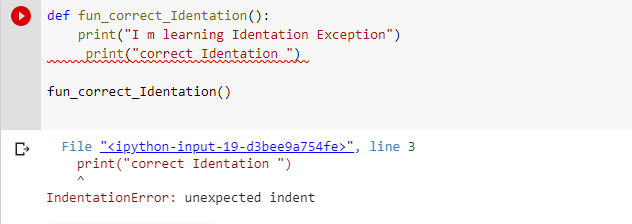 unexpected indent python