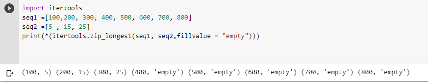 zip_longest() function demo example