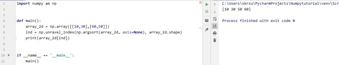 Printing Sorted Array for Two Dimensional Array