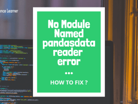 No Module Named pandasdatareader error