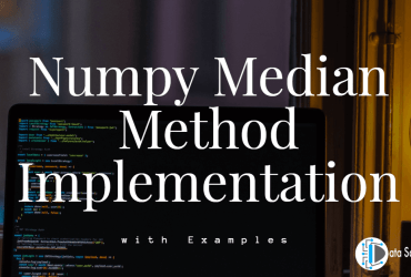 Numpy Median Method Implementation