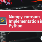 Numpy cumsum Implementation in Python