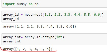Numpy float to int for 1D Array