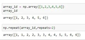 Repeating of 1D Numpy Array