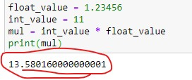 Float value Output with long digits after decimal point