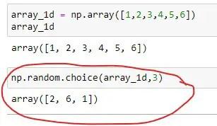 Generate a random Uniform Sample using 1D Array