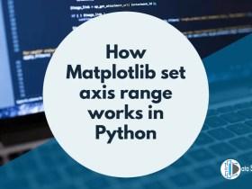 How Matplotlib set axis range works in Python