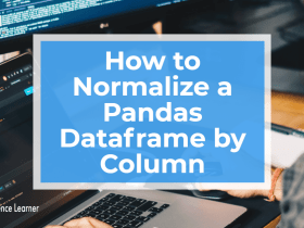 How to Normalize a Pandas Dataframe by Column featured image