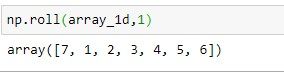 roll on a 1D array with shift =1