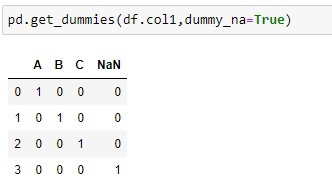 get_dummies() implementation of Dataframe with NaN