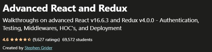 Advanced React and Redux