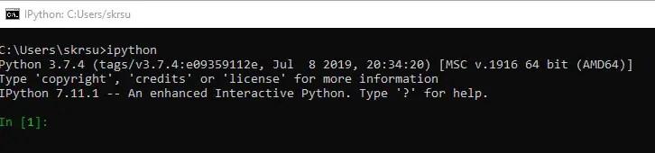 Starting IPython Shell