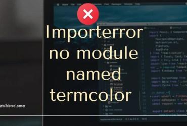 Importerror no module named termcolor